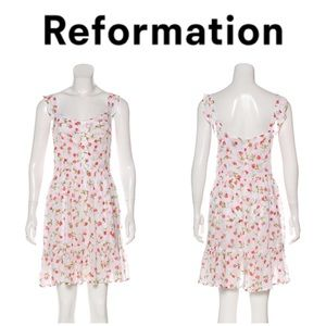 Reformation floral rose print mini dress 10